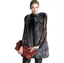 New 2017 Fashion Winter Women Faux Fur Vest Female Faux Fox Fur Coat Woman Fur Vests Jacket Ladies Overcoat a508