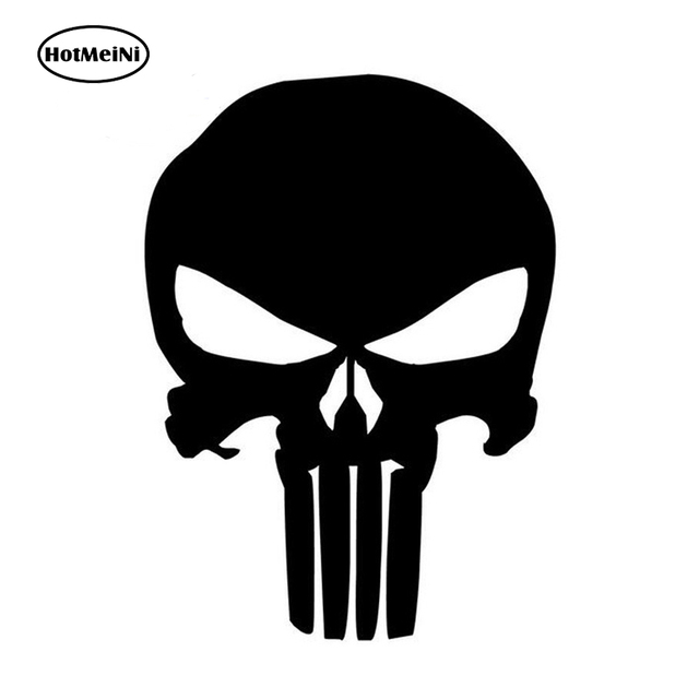 Hotmeini 10 214 cm classic car sticker punisher skull oem car window decorative vinyl decal