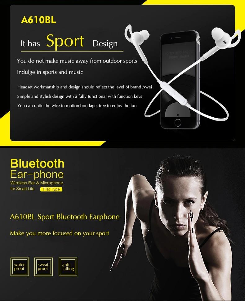 Awei A610BL bluetooth earphones