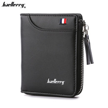 Baellerry Men Wallet designer's Leather Card Holder Short Wallet Luxury Man Monedero Brand Card Case Casual Carteras estándar