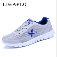 2018 Brand Men Casual Shoes Breathable Lace Up Walking Shoes Spring Lightweight Comfortable Walking Men Shoes