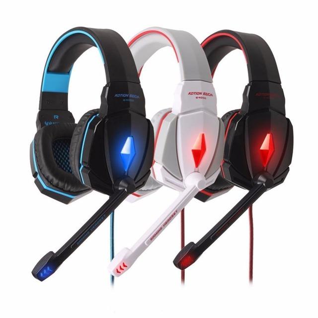 1x Estéreo Rodeado Diadema Auricular Llevó la Luz de Sonido En la Oreja los Auriculares Para Juegos Para Pc Gamer