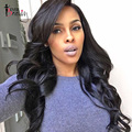 Llena Del Cordón Del Pelo Humano Pelucas Para Las Mujeres Negras del Pelo Virginal Brasileño Onda del Cuerpo de la peluca Del Frente Del Cordón Pelucas de Cabello Humano Sin Cola Llena Del Cordón pelucas