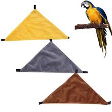 Solid Color Triangular Hammock Pet Hanging Bed For Sugar Glider Squirrel Hamster Small Supplies Simple And Practical