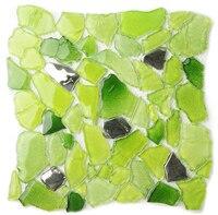 Fresh green Random 3D design glass furniture mosaic tile Bathroom shower floor kitchen backsplash Pool decor wall sticker,LSWZ02