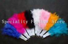 Envío Gratis 1 UNID de 12 colores Plegables Fan Showgirl Danza Mano Abanicos de Plumas de Lujo Para Las Mujeres Del Banquete de Boda Suministros