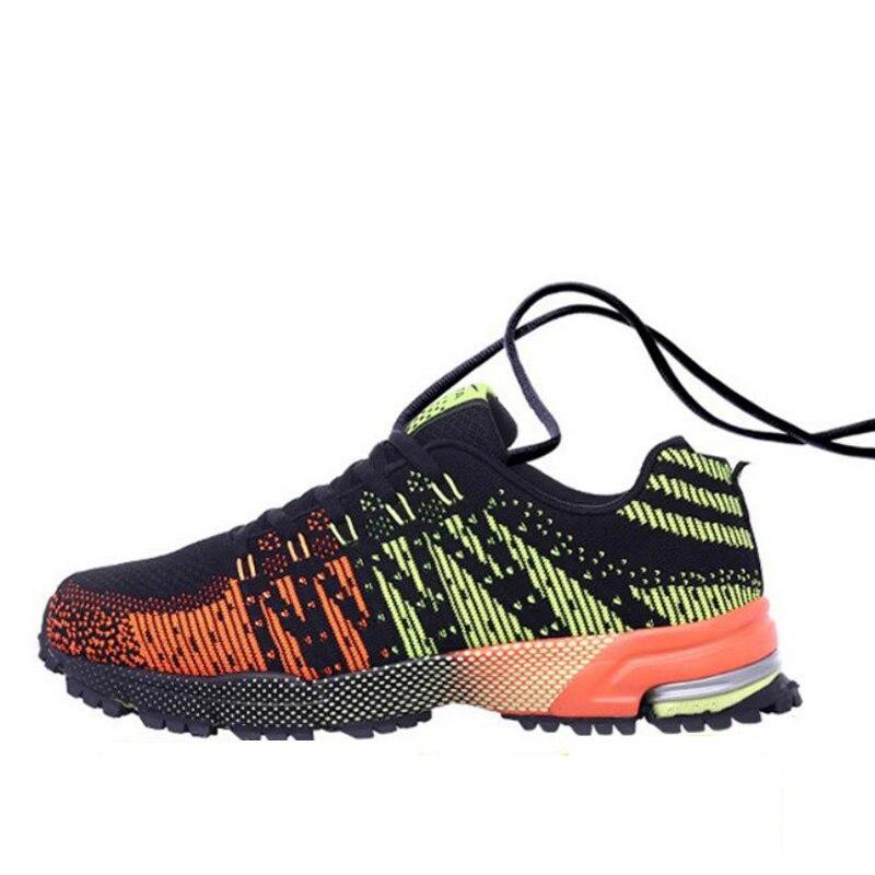 Marque nouveauté printemps automne été ligne de mouche chaussure Air Mesh chaussures coréen tourisme talon chaussures libres hommes chaussures décontractées hommes Orange