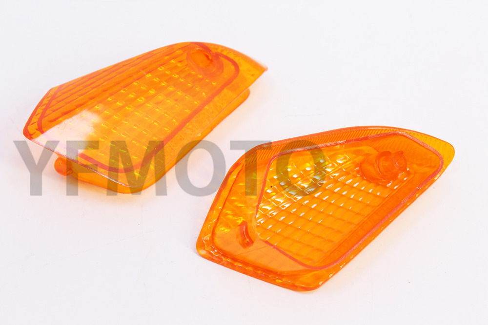 1 Pair Motorcycle Rear Turn Signal Light Lens Cover For Kawasaki ZZR250 ZZR 250 EX250 1990-2007 01 02 03 04 05 06 pair of motorcycle water resistance turn signal light