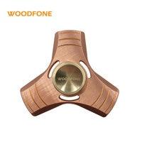 Spring Toy Hand Spinner Red Copper Torqbar Metal Aluminum Tri Fidget Spinner Time Long Anti Stress