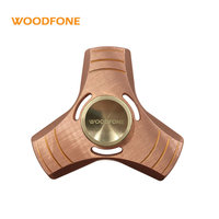 Spring Toy Hand Spinner Red Copper Torqbar Metal Aluminum Tri Fidget Spinner Time Long Anti Stress