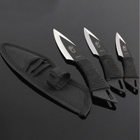 Hot 3pcs Throw Knife Tactical Fixed Blade Pocket Knife Survival Outdoor Hunting Camping Knives Knife Tools