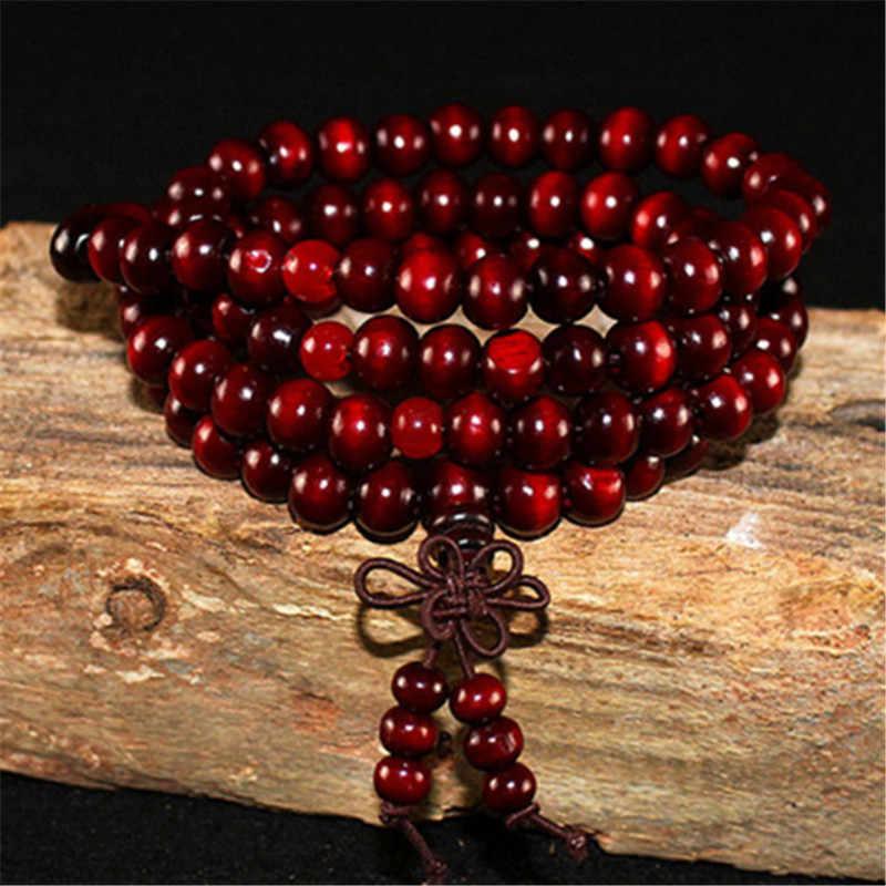 108 perles chapelet Bracelets hommes femmes bijoux prière bois de santal naturel perlé bracelet homme