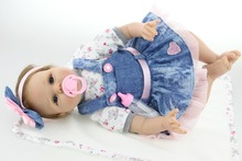 NPKCOLLECTION 55CM Reborn Baby Doll Lifelike Soft Silicone Realista Fashion Baby Dolls For Princess Children Birthday Gift Bebes