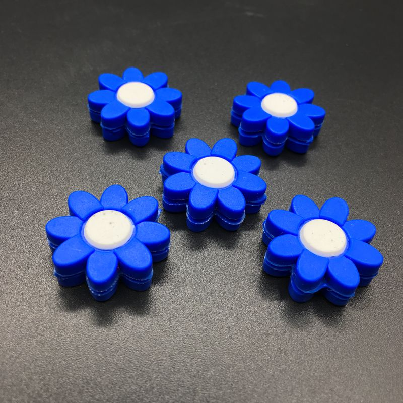 5 Pcs 2017 NEW Blue Flowers Tennis Damper Shock Absorber To Reduce Tenis Racquet Vibration Dampeners
