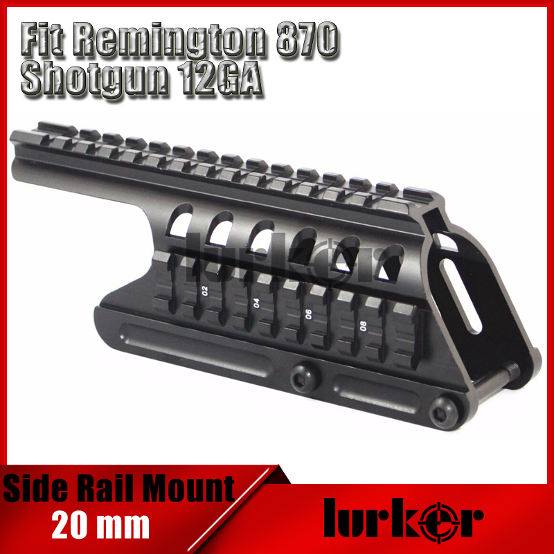 Tactical 20mm Double Rail Mount System Fit For Remington 870 RM870 Shotgun 12 Ga. Scope