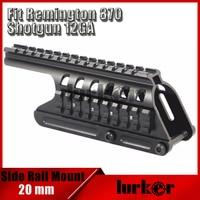 KINSTTA Tactical 20mm Double Picatinny Rail Mount System Fit For Remington 870 RM870 Shotgun 12 Ga