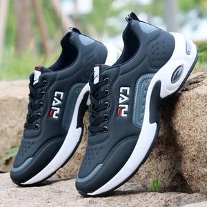 Image 5 - 秋男性スニーカー通気性作業靴、カジュアルスポーツの靴屋外ウォーキングシューズエアクッション男性の靴zapatosやつsapatos