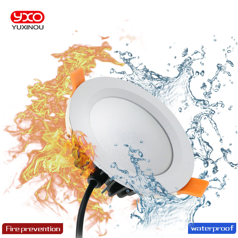 Waterproof LED downlight lights High quality 5W/7W/9W/12W LED light indoor lamp AC230V Bulb lamp kitchen bathroom led lights image
