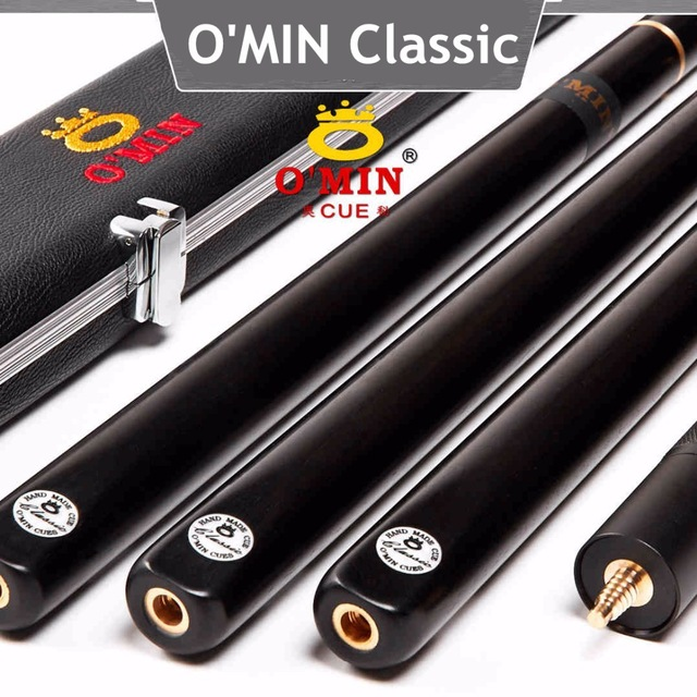 O'MIN Snooker Cue, Model Classic,High Level, 145cm Length, Cue Tip 10mm, 3/4 Jointed cues, Handmade Billiard Stick,Free Shippin omin snooker cue union the top level 145cm length 10mm cue tip ash wood 3 4 handmade billiard stick free shipping