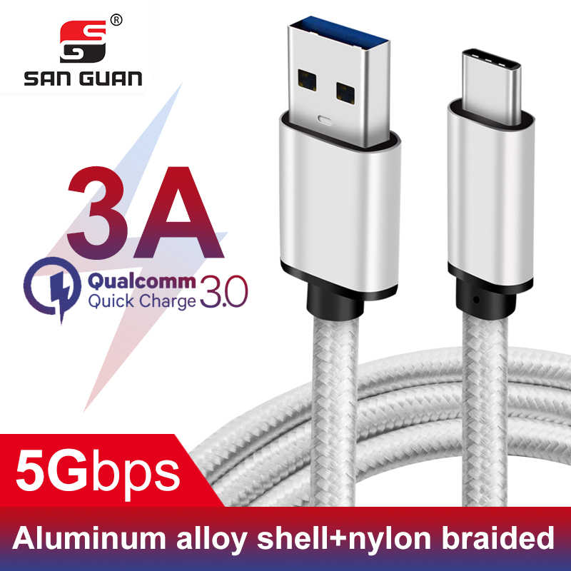 0.25M Short USB C Cable USB 3.1 Type C to Type A for USB Type C Macbook pro xiaomi redmi note 7 QC3.0 60W 3A Power Charge