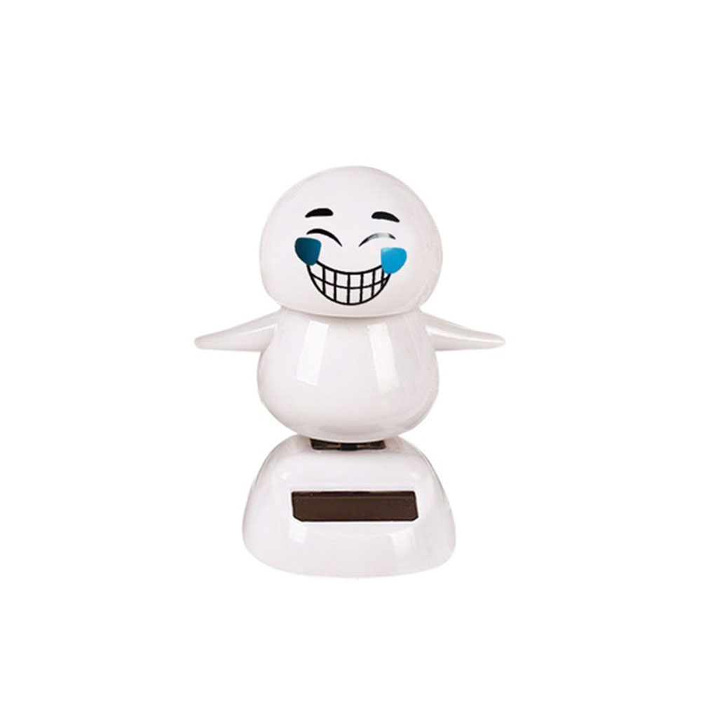Expression Figure Emoji Doll Emotion Non-Toxic Safe ABS Resin Accessory Kids Toy Car Cartoon Solar Powered
