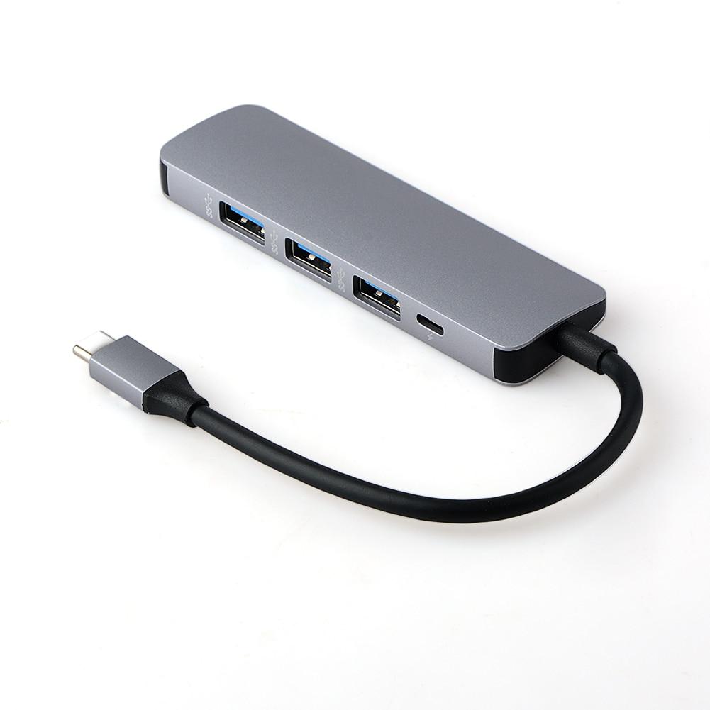 5 in 1 USB-C HUB Type-C Hub Adapter USB-C to Micro USB 2 Ports USB 3.0 HUB Converter Adapter for MacBook Type-C OTG HUB