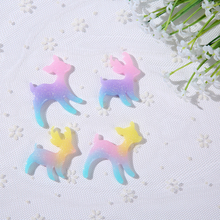 5pcs Mixed Cartoon Animal Bambi Sika Deer flatback resin cabochon For DIY Phone Deco and Scrapbook Embellishment
