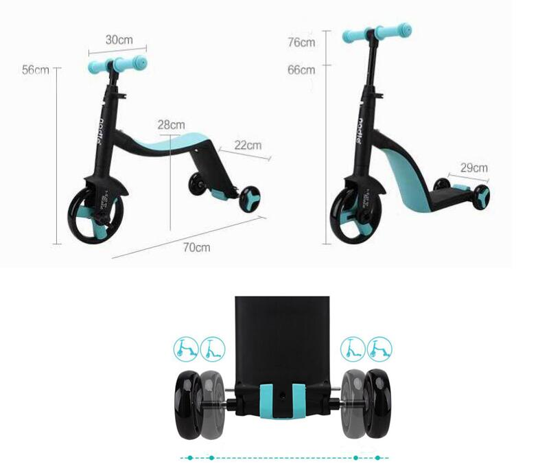 Niños bicicleta de equilibrio triciclo para chico bicicleta bebé carritos para caminar tren Scooter para niño juguete regalo - 4