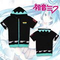 Hatsune Miku Vocaloid Moda Casual T shirt T-shirt de Manga Curta Para Os Homens para t Zíper