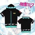 Hatsune Miku Vocaloid Moda Casual camiseta de Manga Corta Para Hombres T-shirt de la Cremallera camisetas