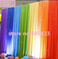 3*3m (accept custom made) wedding party event ice silk fabric drapery 7 Colors joint stage prop fashion Drape curtain Backdrop