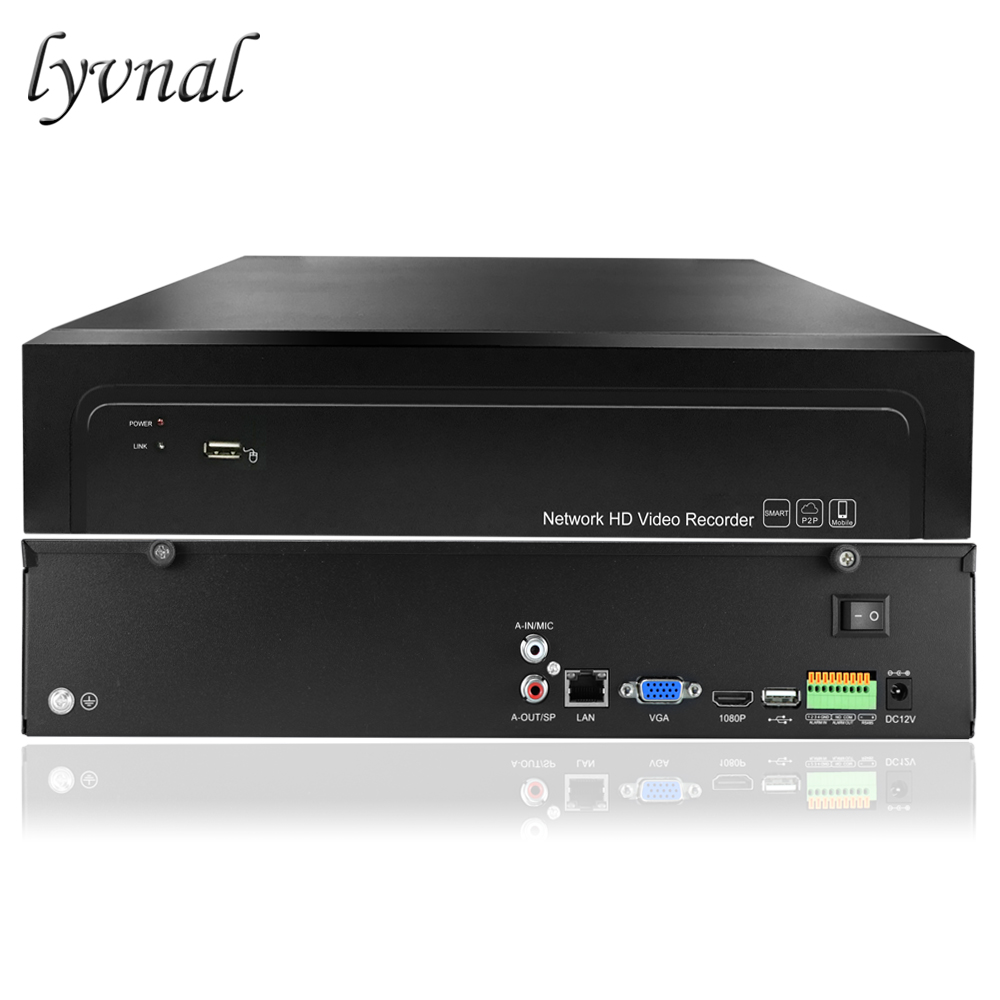 LYVNAL H 265 H 264 32ch NVR 4K 5mp 1080p Network P2P 32 channel Recorder video