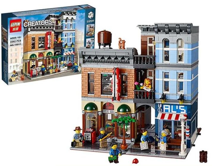 Detective Office 2262pcs Building Bricks Block Mini Street Set Lepin 10246 15011 Compatible With Lego