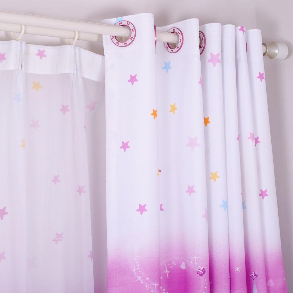 moderne enfants rideaux pour fenetres imprime enfant rideau de chambre fille de bande dessinee salon chambre blanche neige princesse rideaux rose