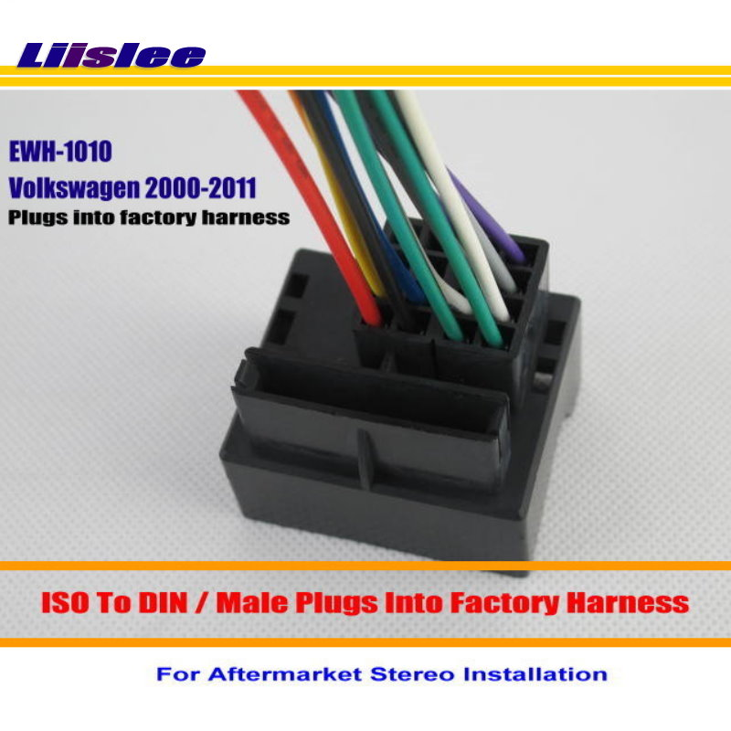 Liislee For Volkswagen Beetle Cabrio CC EOS GLI Golf GTI Male ISO Radio Wire Cable Wiring 2000 vw beetle wiring harness install on 2000 download wirning 74 VW Beetle Wiring Diagram at soozxer.org