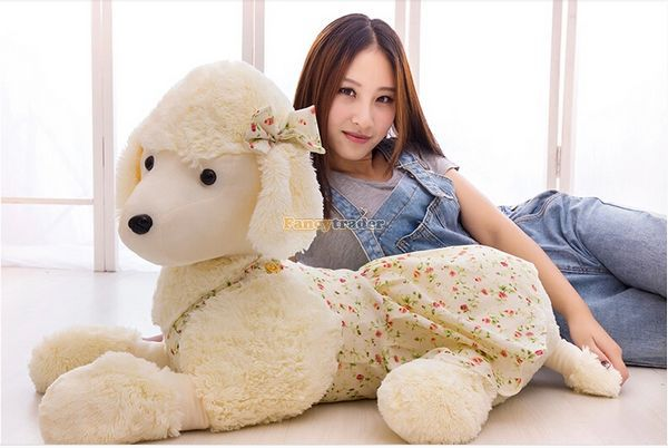 Fancytrader Hot Sale 35'' / 90cm Lovely Stuffed Soft Huge Poodle Dog Toy, Nice Gift and Decoration Dolls, Free Shipping FT50061