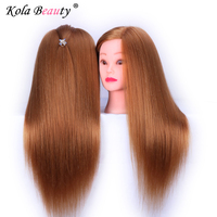 80% Prawdziwe Naturalne Włosy 55 CM Głowy Manekina Włosów Fryzjerstwo Manekin Lalki Głowy Do Szkoły Szkolenia