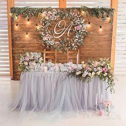 Hobbylane 80*91.5cm tutu saia de mesa de tule fofo para decoração de casamento chá de bebê natal brithday festa bolo mesa decoração