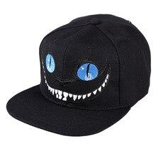 2017 nuevo patrón Cheshire gato coreana del sombrero de béisbol del bordado  carta puro algodón Hip 711c9e7e060