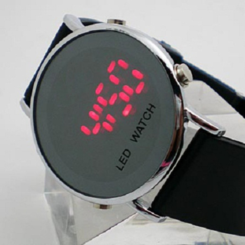 Hot New LED Watch Fashion Silicone Digital Dress Wrist Watch Casual Jelly Candy Touch Electronic Watches Men relogio masculino criancas relogio 2017 colorful boys girls students digital lcd wrist watch boys girls electronic digital wrist sport watch 2 2