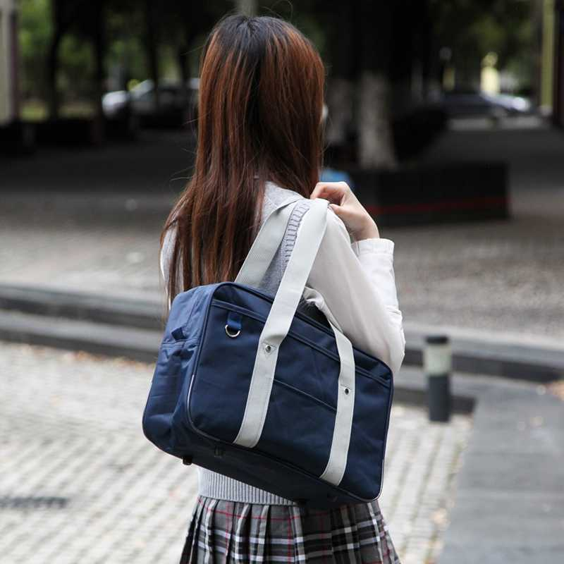 Japanese Style JK Uniform Cosplay Handbag Brand Fashion Oxford Shoulder Bag High School Students Bookbag Travel  Messenger bag