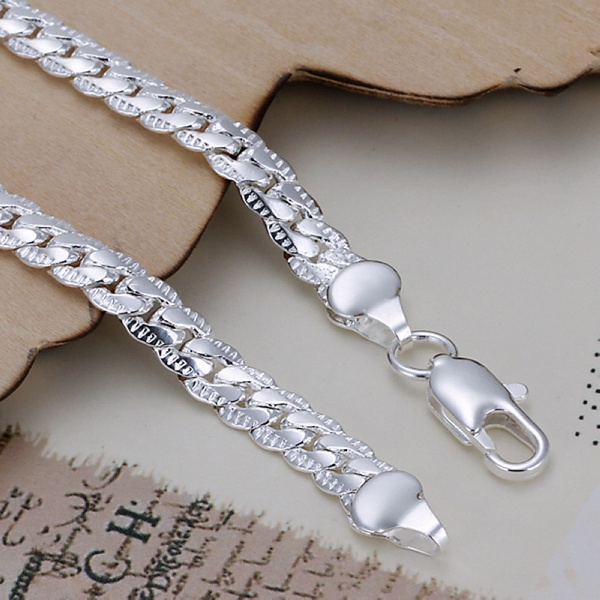Gold color Silver color exquisite cute women men noble nice bracelet fashion charm 5mm snake chain jewelry birthday gift H199