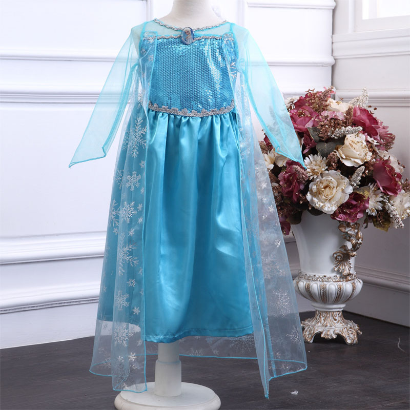 HTB15SsObovrK1RjSspcq6zzSXXaC 2019 New Elsa Dress Girls Summer Dress Princess Anna Cosplay Costume Dresses For Girl Princess Vestidos Menina