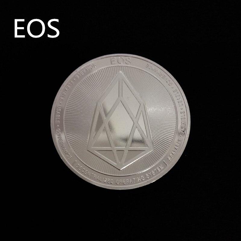Позолоченная Виртуальная металлическая памятная монета биткоины сувенир искусство коллекционный бизнес подарок праздничное украшение подарок античный Im - Цвет: EOS