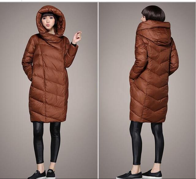 2016 inverno moda casual grande tamanho mulheres jaqueta de inverno casuais jaqueta feminina para baixo casaco Tamanho S-7XL