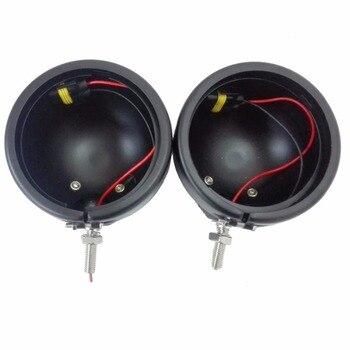 2pcs 4.5 inch Black Housing Bracket Mount Ring Bucket For LED Fog Passing Light Lamp for Motorcycle