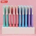 4pcs New Fashion Style TENFON Press Dot Plastic Ballpoint Pen Novelty Gift Ball Pen Office Material School Supplies