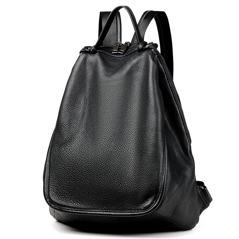 2018 Korean Style Anti theft Ladies Backpack 100 Cowhide Leather High Quality Causal Bagpack Girl Teenager
