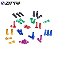 ZTTO Bicycle Spoke Nipples 2.0*14mm 12pcs High Strength Aluminum Alloy Cycling Bike Black Red Blue Gold Green Purple
