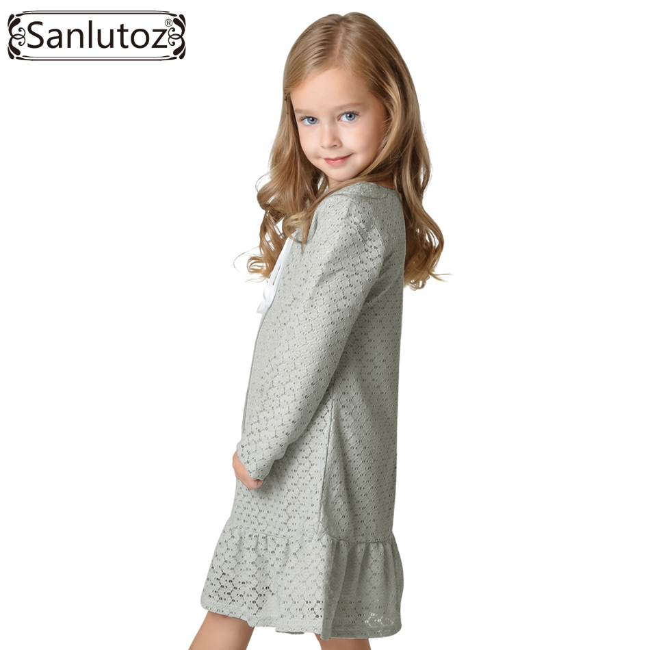 a3ead34e82d7f Sanlutoz Girls Clothes Winter 2017 Children Clothing Toddler Girl Dress Lace  Long Sleeve Autumn Spring Fashion Wedding Party